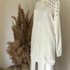 Triko 2 li Bayan Beyaz Takım 001
