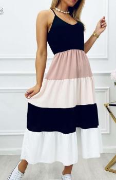 İp Askılı Bloglu Süprem Elbise