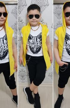 Sarı Yelekli Erkek Çocuk Takım UUB00M3